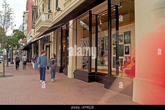San Diego  California, Gaslamp Quarter  street shopping - Stock Image