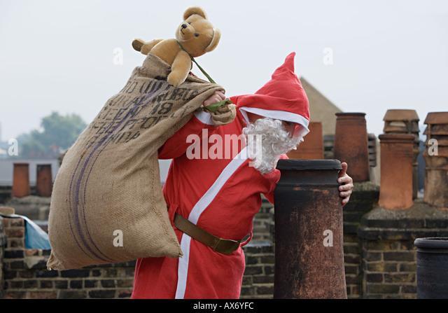 Santa Claus Chimney Stock Photos Amp Santa Claus Chimney