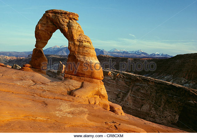 Delicate Arch, Arches National Park, Utah - Stock Image