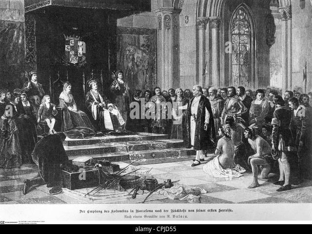 Christopher Columbus in Barcelona - Stock-Bilder