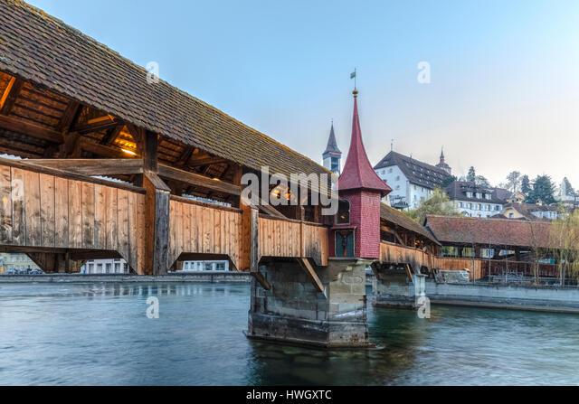 Lucerne, Reuss, Spreuer Bridge, Switzerland, Europe - Stock-Bilder