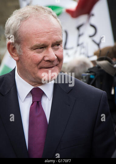 Deputy First Minister of Northern Ireland Martin McGuinness  at Tony Benn's funeral - Stock Image