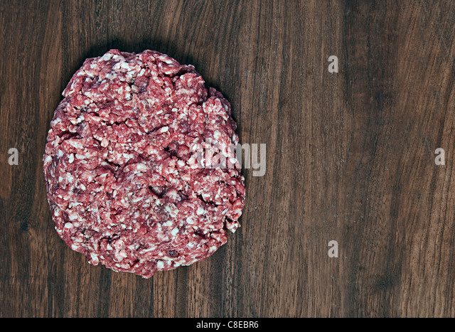 Pound of Mince on a Chopping Board - Stock Image