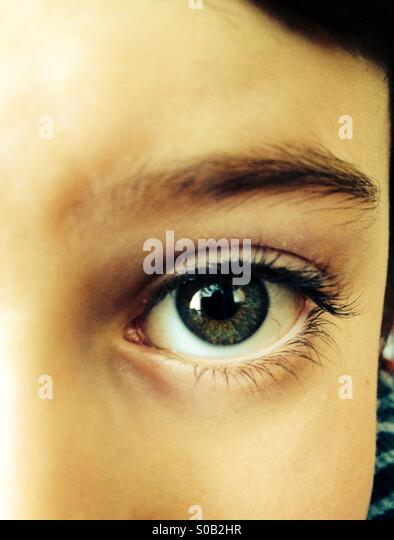 Eye of a child - Stock Image
