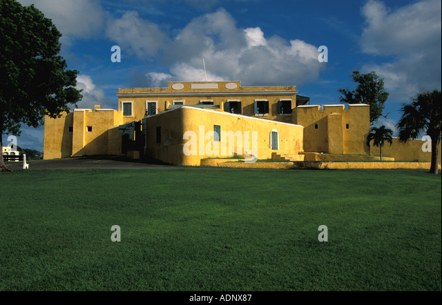 St Croix Fort Christiansvaern Christiansted United States Virgin Islands - Stock Image