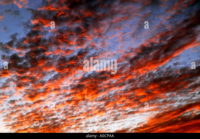 Sunrise clouds over Great Basin National Park Nevada - Stock Image