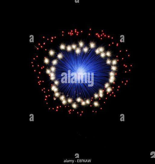 Malta, Colorful fireworks at fireworks festival - Stock Image
