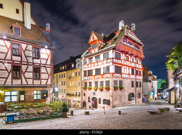Nuremberg, Germany at Albrecht Durer house. - Stock Image