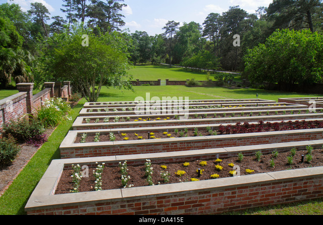 Georgia Thomasville Pebble Hill Plantation sporting country estate Kitchen Garden - Stock Image