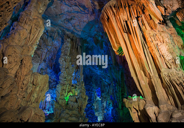 Reed flute cave - Stock Image