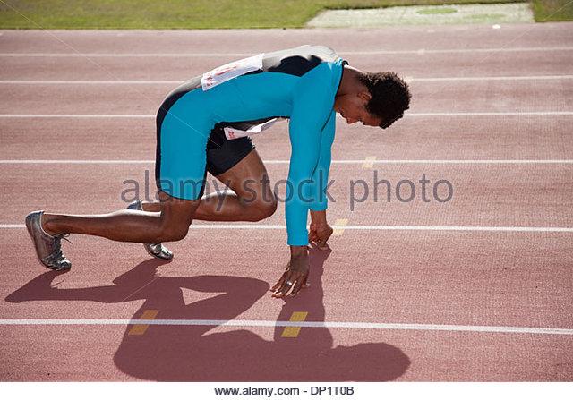 Runner on track - Stock Image