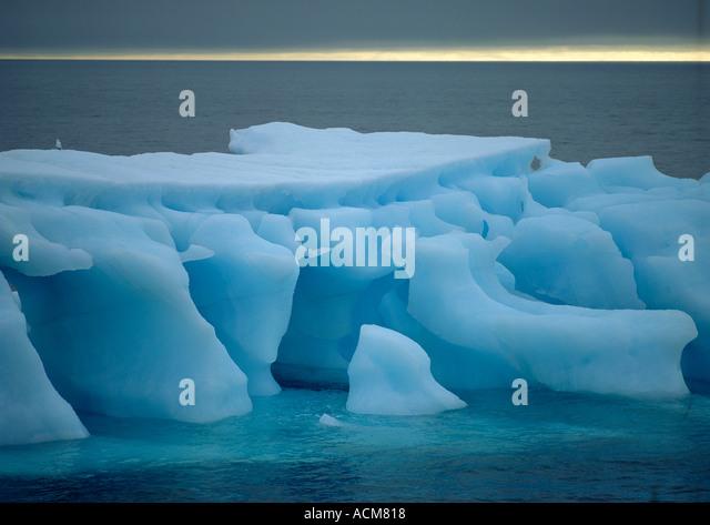 Iceberg, Norway, Spitsbergen, Arctic, Svalbard - Stock Image