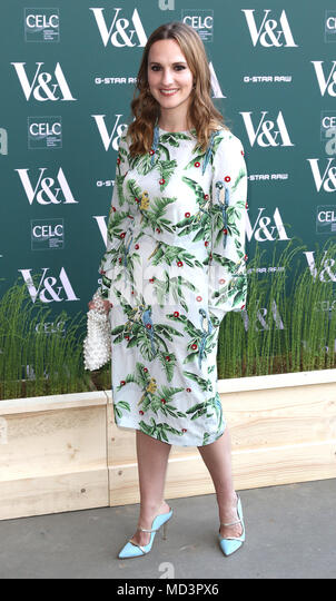 London, UK. 18th Apr, 2018. Ruth Bradley, Fashioned from Nature - VIP Preview, Victoria and Albert Museum, London UK, 18 April 2018, Photo by Richard Goldschmidt Credit: Rich Gold/Alamy Live News - Stock Image