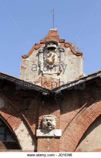 arc, brick wall, arcs, building, head, buildings, tower, city, town, holiday, - Stock Image
