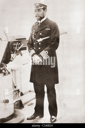 George, later King George V, in the uniform of naval captain in 1893. George Frederick Ernest Albert, 1865 – 1936. - Stock Image