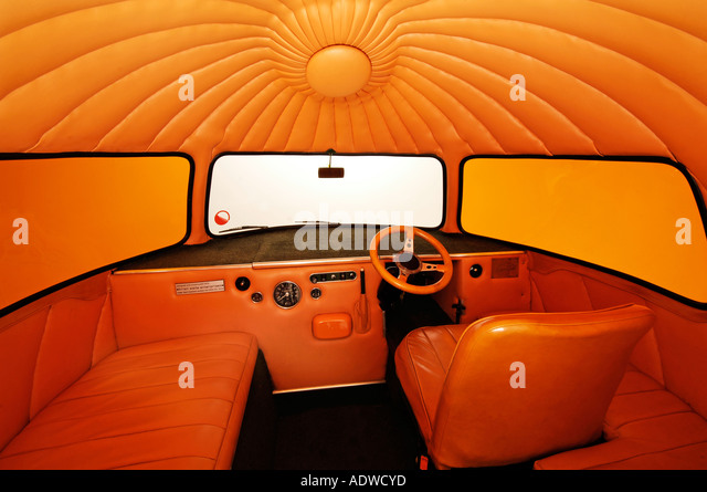 1972 Mini Outspan Orange - Stock Image