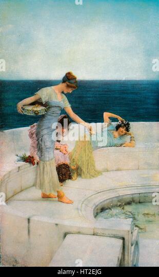 'Silver Favourites', c1903, (1918). Artist: Sir Lawrence Alma-Tadema. - Stock Image