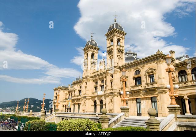 Municipal town hall San Sebastian, Spain - Stock-Bilder