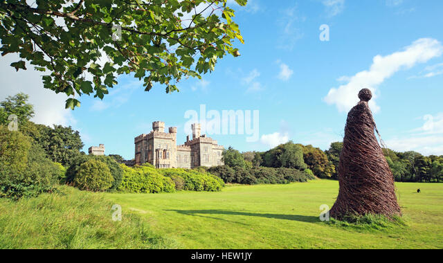 Stornoway Isle Of Lewis,wicker woman at the castle,Scotland,UK - Stock Image