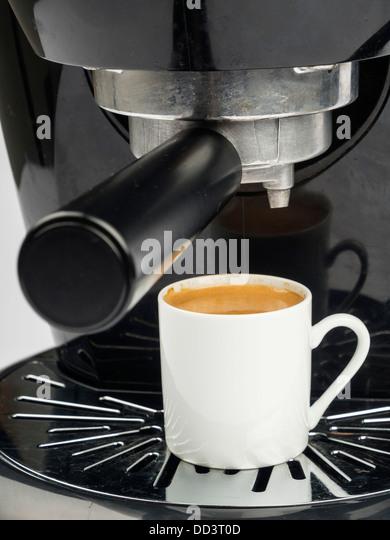 Putting A Shot Of Espresso N Coffee Cake