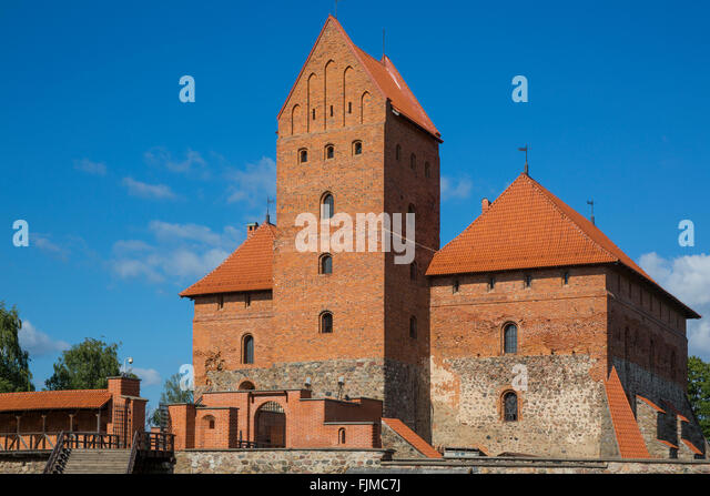 geography / travel, Lithuania, Trakai, Trakai Castle,Lietuva, Baltics, Baltic area, Baltic states, Baltic countries, - Stock-Bilder