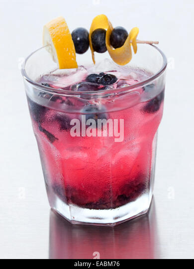 Blueberry Cocktail - Stock Image