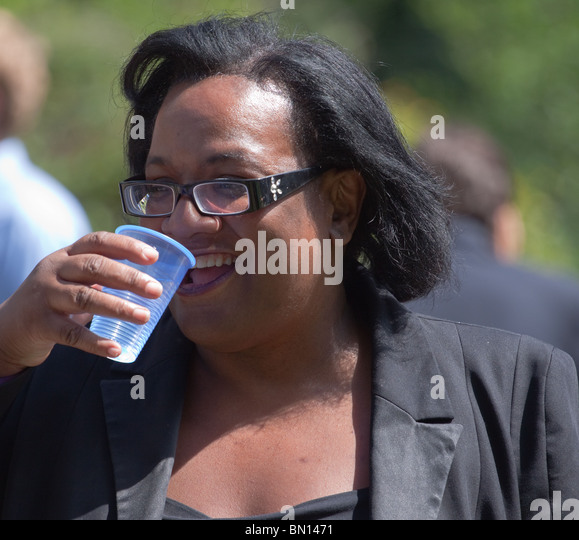 Diane Abbot MP, Labour Party, first black member of Parliament - Stock Image