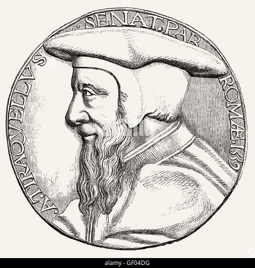 André Tiraqueau or Andreas Tiraquellus, 1488-1558, a French jurist and politician - Stock-Bilder