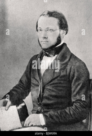 Louis Pasteur, French chemist and microbiologist, 1852. - Stock Image