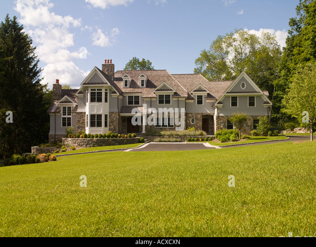 modern large luxury house, USA - Stock-Bilder