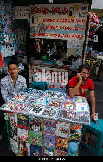 Street Vendor Selling Illegal Bootleg Dvd Movies Canal – Daily