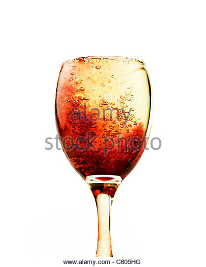 alcoholic drink full to the brim - Stock Image