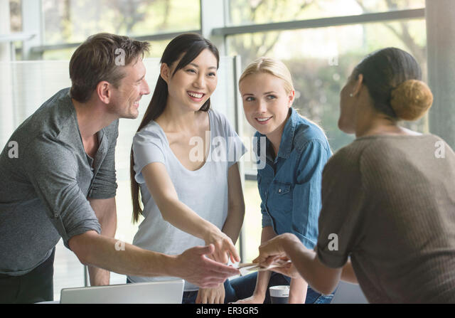 Project team working together - Stock Image