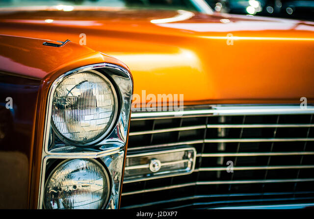 OrangeLincoln0568   - Stock Image
