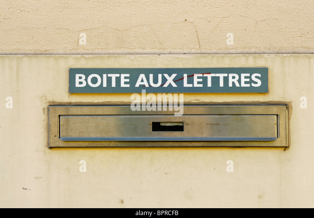 french letterbox stock photos french letterbox stock images alamy. Black Bedroom Furniture Sets. Home Design Ideas