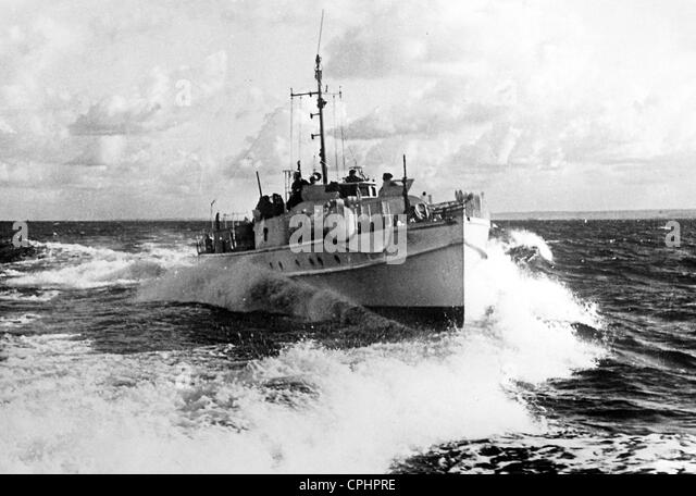 German Fast Attack Boat - Stock Image