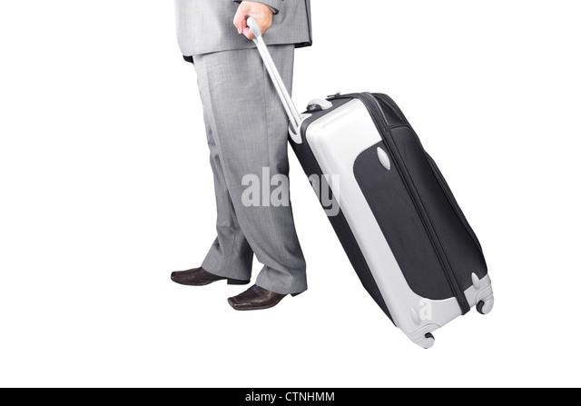 Man Walking with Travel Bag - Stock-Bilder