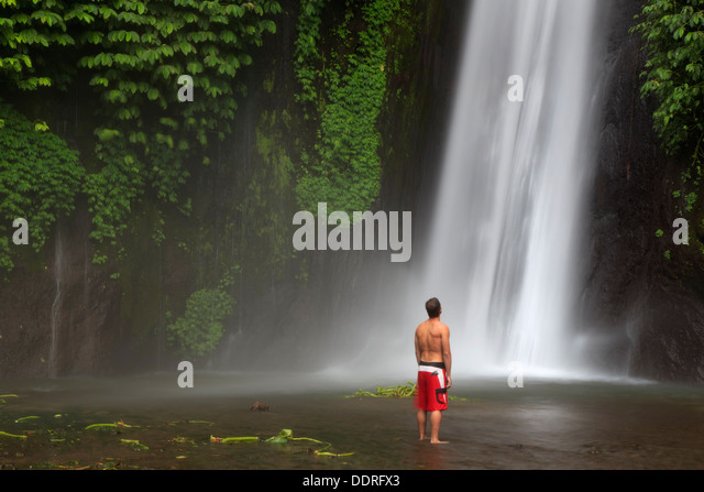Indonesia, Bali, Central Mountains, Munduk, Waterfall - Stock Image