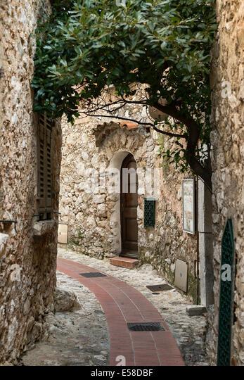 Medieval architecture, Eze, Cote d'Azur, France - Stock Image