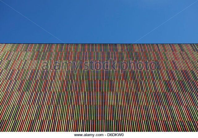 Modern architecture building abstract striped - Stock Image