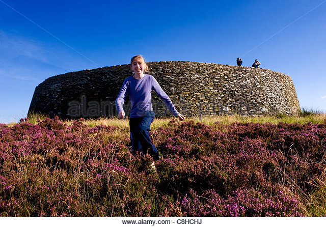 Grianan of Aileagh ancient fort in Donegal. - Stock Image