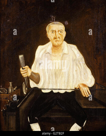British School, 19th century - painting; oil on canvas - Glassblower - - Stock Image