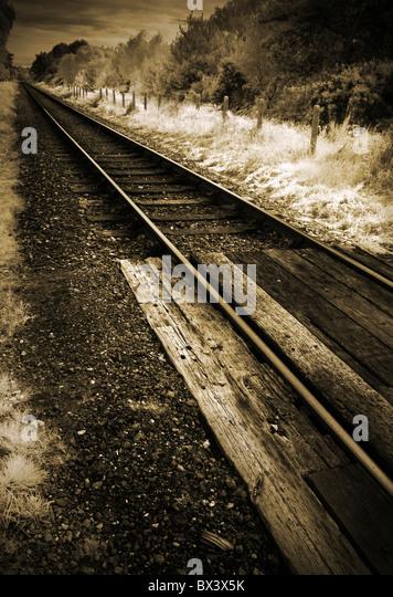 railway track - Stock Image