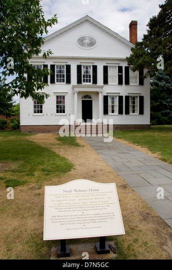 Michigan, Wyandotte. Greenfield Village. Noah Webster House, c. 1823. - Stock Image