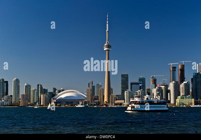 Toronto Ontario Canada Skyline view from Toronto Island Oct 2013 - Stock Image