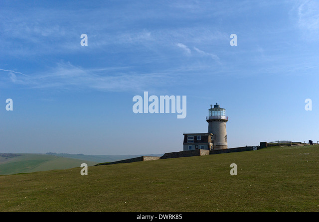 Belle Tout Lighthouse, Beachy Head, near Eastbourne, East Sussex, UK - Stock Image