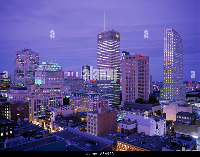Downtown Montreal, Quebec, Canada - Stock Image
