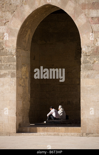 ablutions fountain in courtyard, mosque of Ibn Tulun, Cairo, Egypt - Stock Image
