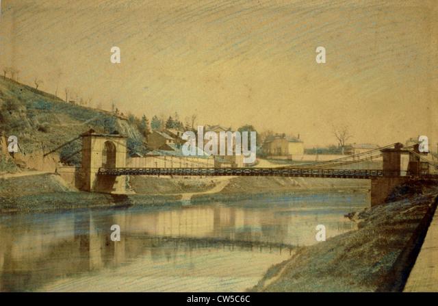 Charleville-Mézières (Ardennes), watercolor - Stock-Bilder