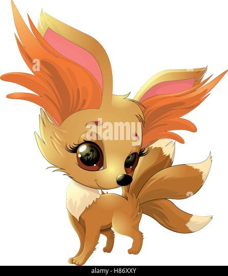 Cute cartoon fox face - photo#45